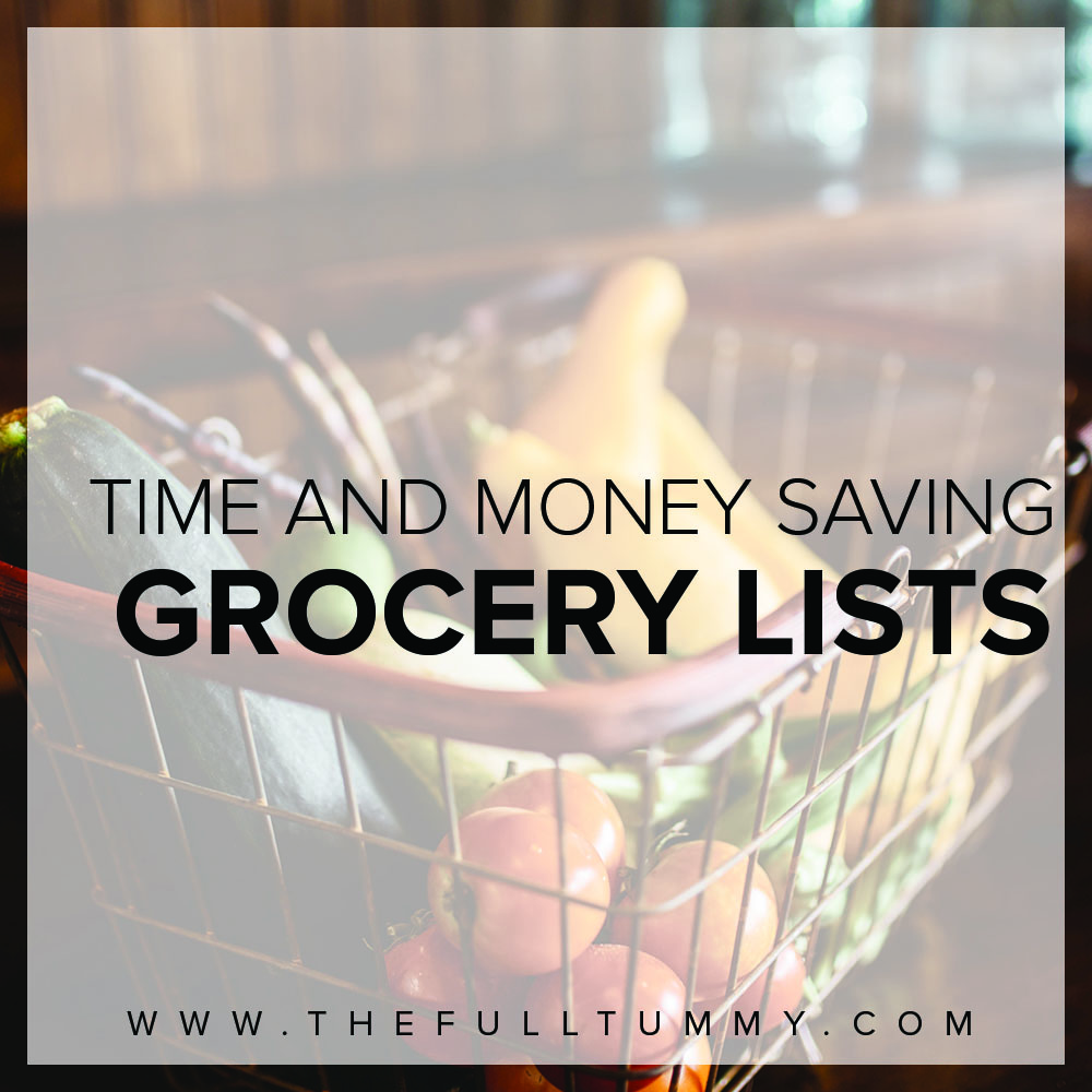 A Grocery List That Will Save Both Time and Money