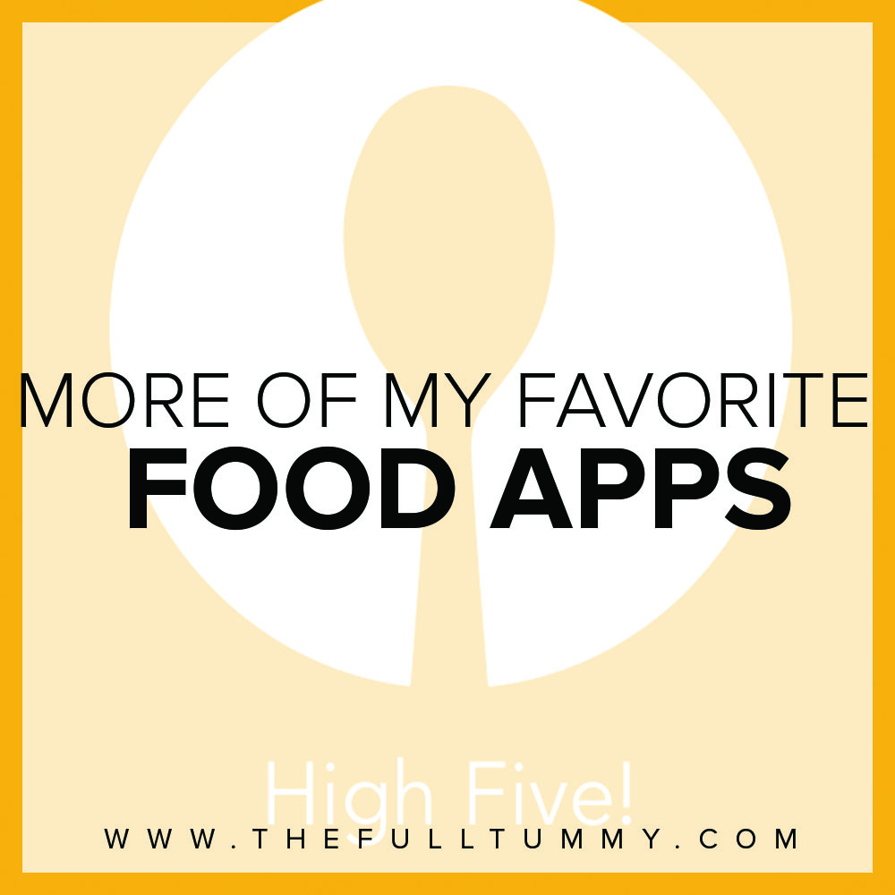 More of my Favorite Food Apps!
